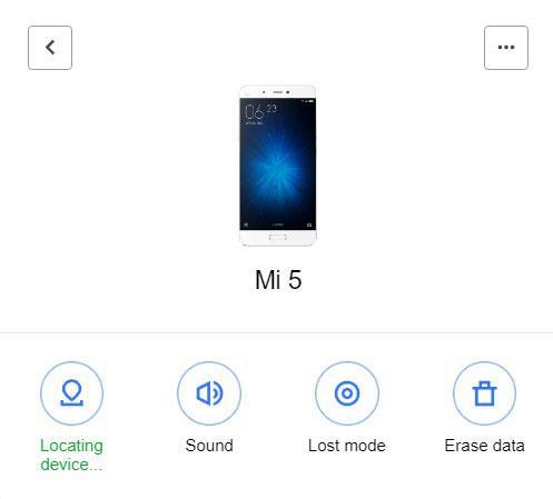 Все функции поиска устройства на сайте i.mi.com