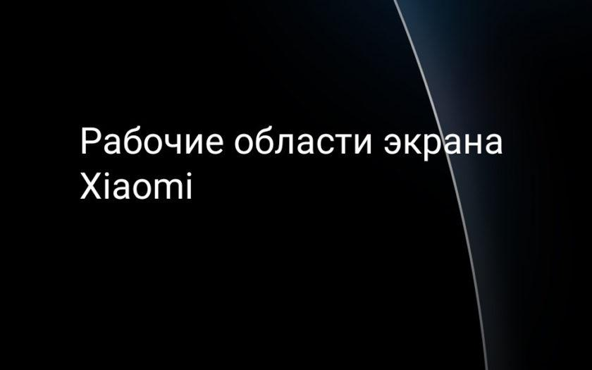 Рабочие области экрана Xiaomi