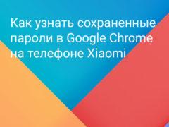 Как посмотреть все свои пароли, которые хранятся в браузере Google Chrome на телефоне Xiaomi