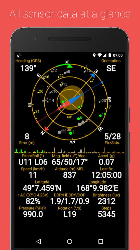 Приложение GPS Status & Toolbox