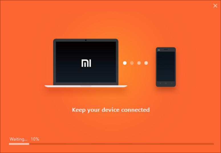 Попытка подключения Mi PC Suite к телефону Xiaomi