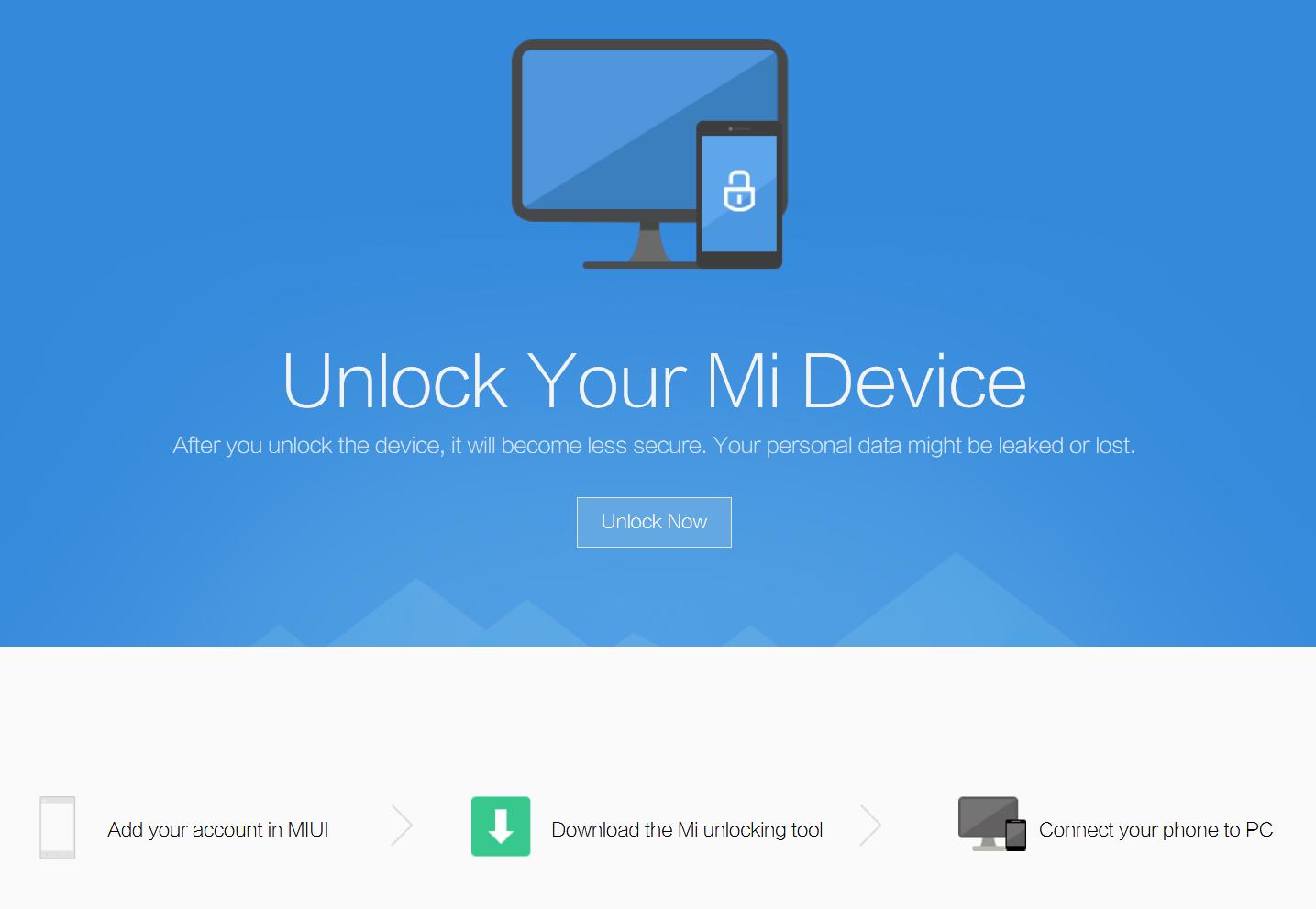 Программа для разблокировки загрузчика с помощью компьютера на Xiaomi