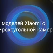 Модели телефонов Xiaomi (Redmi) с широкоугольной камерой