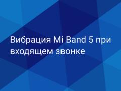 Как настроить вибрацию при звонке браслета Xiaomi Mi Band 5